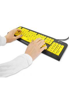 Large Print Keyboard (USB) Black on Yellow