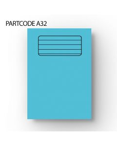 30mm/10mm/10mm Lined Handwriting A4 Exercise Book -  Pale Blue, 60 Pages
