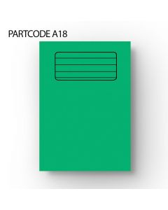 10 mm Lined A4 Exercise Book - Green, 60 Pages