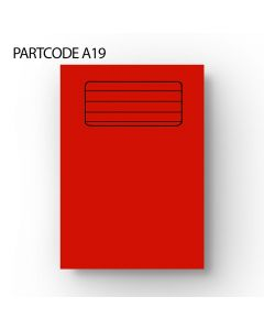 15 mm Lined A4 Exercise Book - Red, 60 Pages