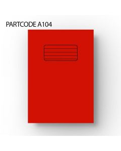 15 mm lined School Sized Exercise Book - Red, 60 Pages